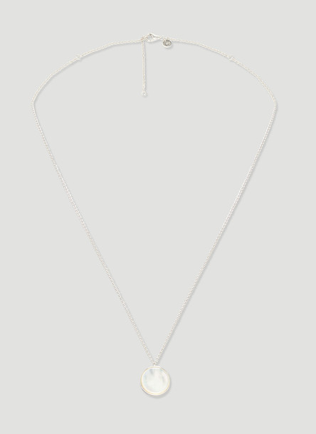 Tom Wood Mother of Pearl Pendant Necklace in SIlver size One Size