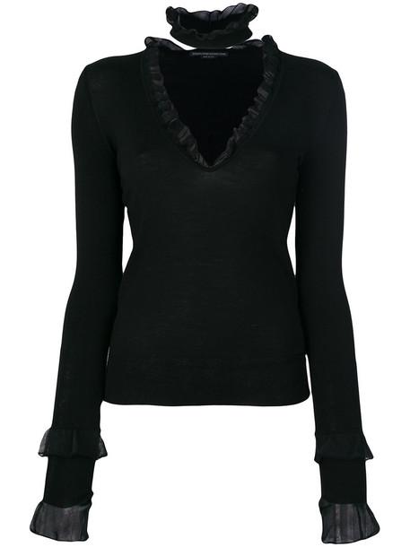Ermanno Scervino blouse women black wool knit top