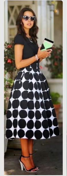 skirt polka dot skirt maxi skirt maxi dress