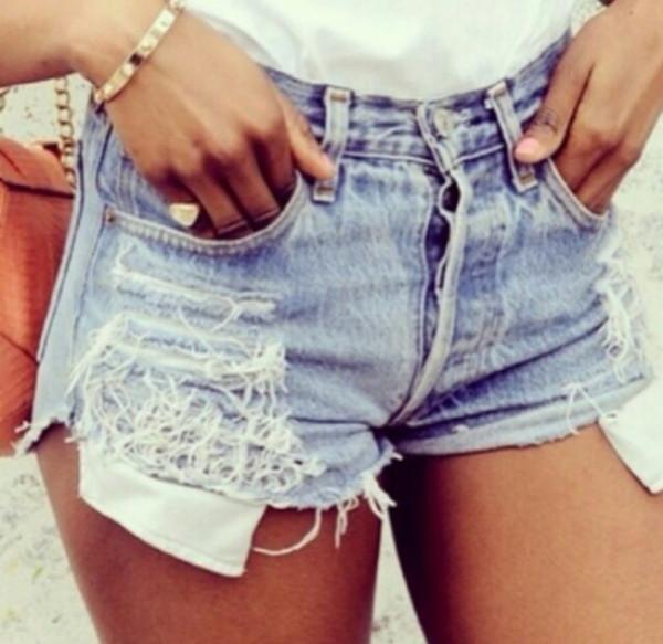 shorts High waisted shorts levi's shorts ripped shorts festival