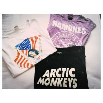 shirt arctic monkeys lana del rey lana del rey shirt american flag ramones outfit