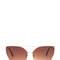 Diva status cat-eye top bar sunglasses blacksilver blackgold blackblack browngold - gojane.com