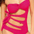 Monokini- Cut Out Hot Pink | Fashion Effect Store