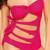Monokini- Cut Out Hot Pink | Fashion Effect Store