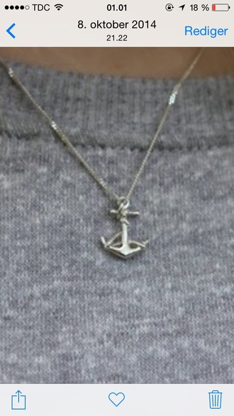 jewels anchor anchor necklace necklace silver jewelry silver
