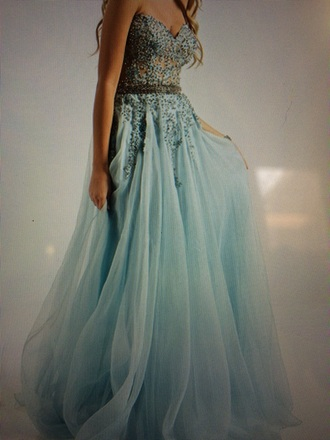 jovani blue dress