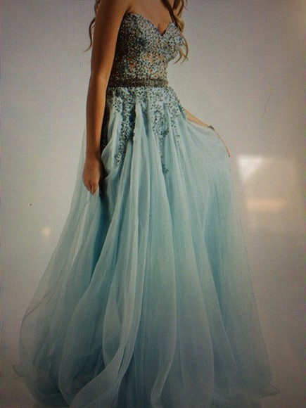 jovani blue dress