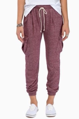 pants maroon sweat pants sweatpants burgundy purple colour hipster jeans joggers