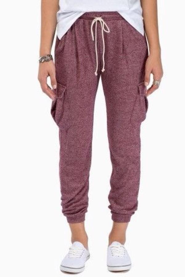 pants maroon sweat pants sweatpants sweatpants burgundy purple colour hipster jeans joggers