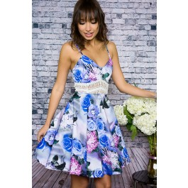 Tea party floral crochet dress