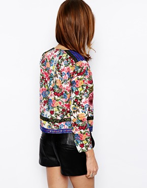 ASOS | ASOS Jacket With Statement Floral Embroidery at ASOS