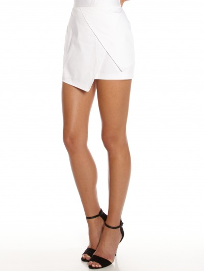 Koemi Asymmetric Skirt in White - Glue Store