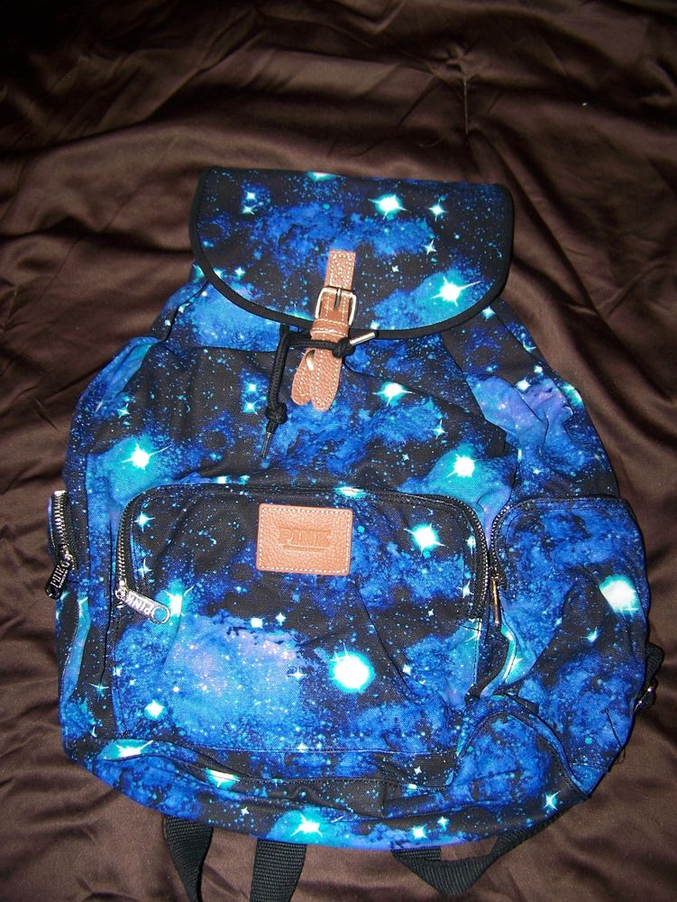 Victoria's Secret PINK Galaxy Blue Backpack NEW