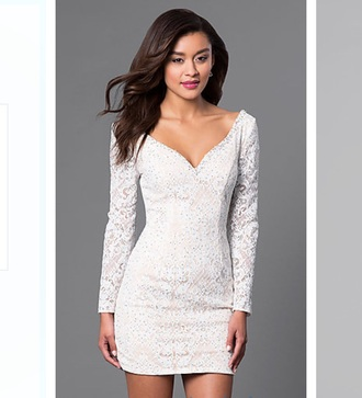 dress white dress lace mini dress long sleeves short dress cute dress summer formal dress fancy lace dress little white dress