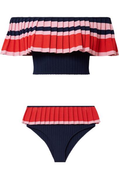 tabula rasa bikini navy knit swimwear
