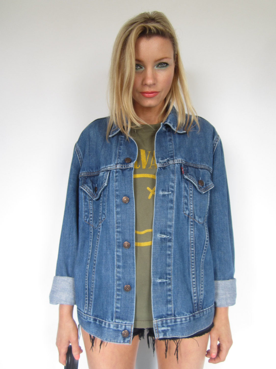 90s Oversized Levi's Blue Wash Denim Jacket Boyfriend Slouchy ...