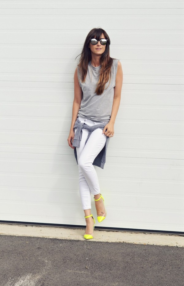 Stilt Crop in White: Buy AG Jeans at CoutureCandy.com