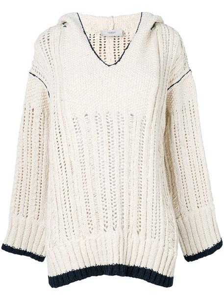PRINGLE OF SCOTLAND hoodie women nude cotton sweater