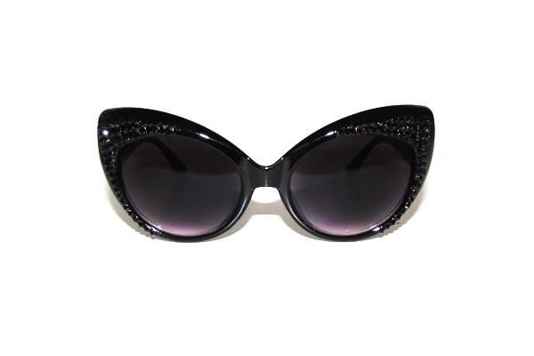 sunglasses marialia cat eye black crystal swarovski