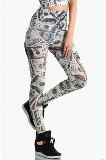 OMG High Waist Money Print Leggings