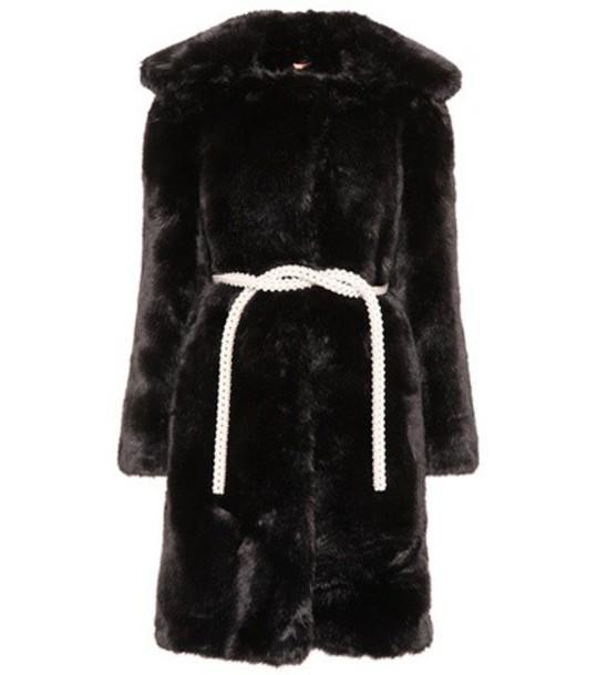 Shrimps Marilyn faux-fur coat in black