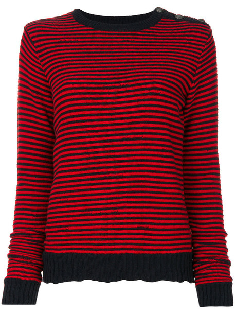 jumper women cotton red sweater