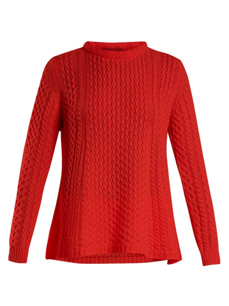 QUEENE AND BELLE sweater knit red