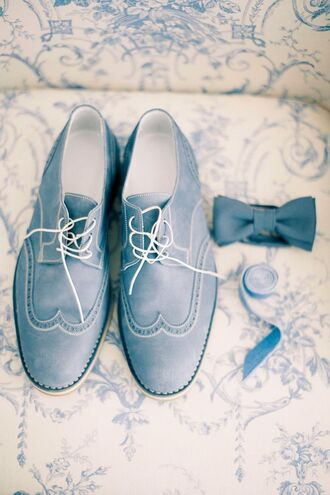 shoes blue shoes mens shoes bow mens accessories wedding groom wear wedding accessories blue wedding accessory