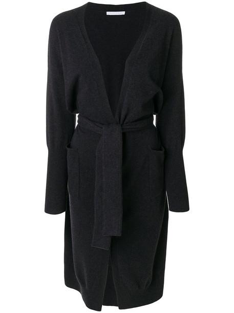 Fabiana Filippi - belted cardigan - women - Silk/Cotton/Cashmere/Merino - 42, Black, Silk/Cotton/Cashmere/Merino