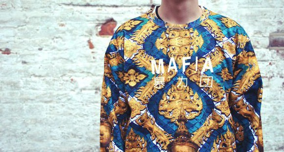 sweater tumblr mafia gold chinese writing