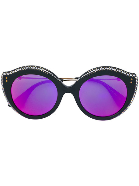 Gucci Eyewear metal women sunglasses black