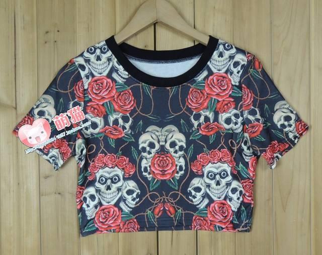 Aliexpress.com: comprar esqueleto harajuku boy london american eagle blusa entallada camiseta de la bandera de la parte superior de la camisa t fiable proveedores en yinyin bao's store
