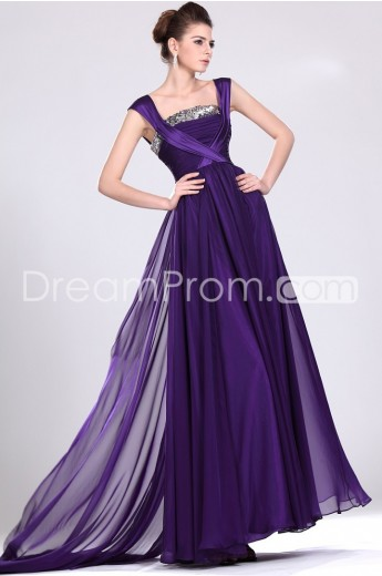 Buy Cheap Cheap Graceful A-Line Square Floor-Length Wateau Train Evening/Prom Dresses CH801003 Default Category under $176.39 only in Udressprom.