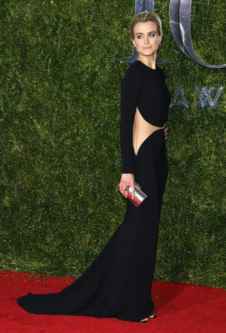 dress gown cut-out maxi dress prom dress red carpet tony awards taylor schilling