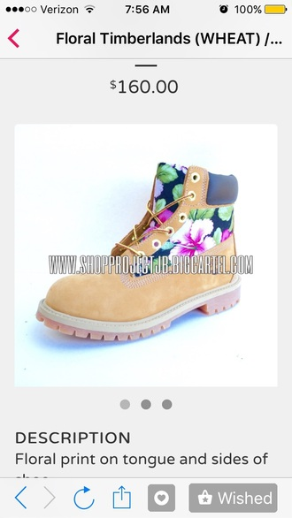 shoes timberlands floral