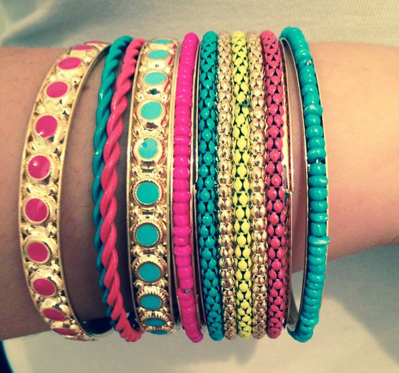 jewels bangles bracelets yellow beads jewelry bracelets boho boho chic