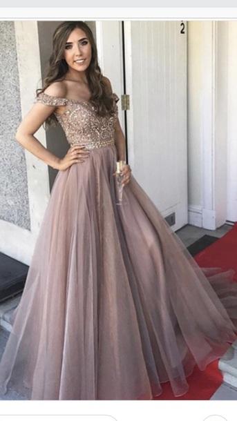 dress prom dress dusty pink england