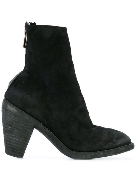 Guidi women ankle boots leather black shoes