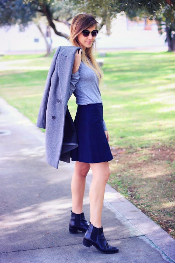 fashion quite coat t-shirt skirt sunglasses shoes jewels