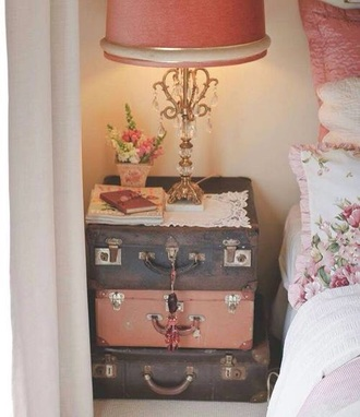 vintage decor bag home decor vintage cosy girly suitcase