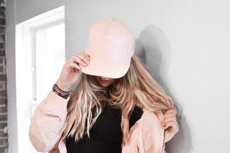 hat cap pink dope pretty