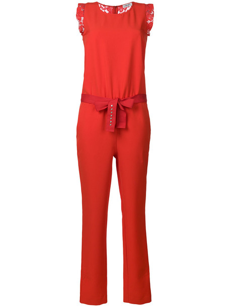 LIU JO jumpsuit women spandex lace red