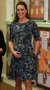 dress,floral,kate middleton,maternity,maternity dress