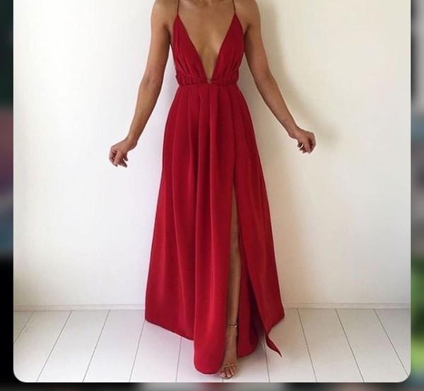 dress red maxi dress plunge v neck slit dress long red dress red dress prom dress long dress backless dress