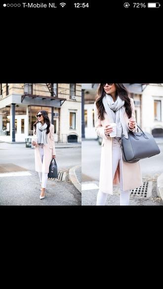 jacket long softpink soft