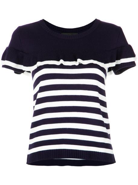 Nk blouse women blue knit top