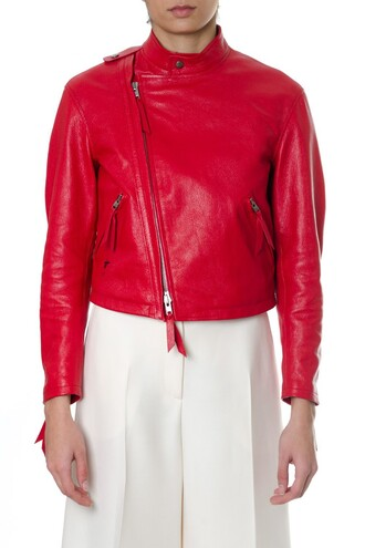 jacket leather jacket leather red