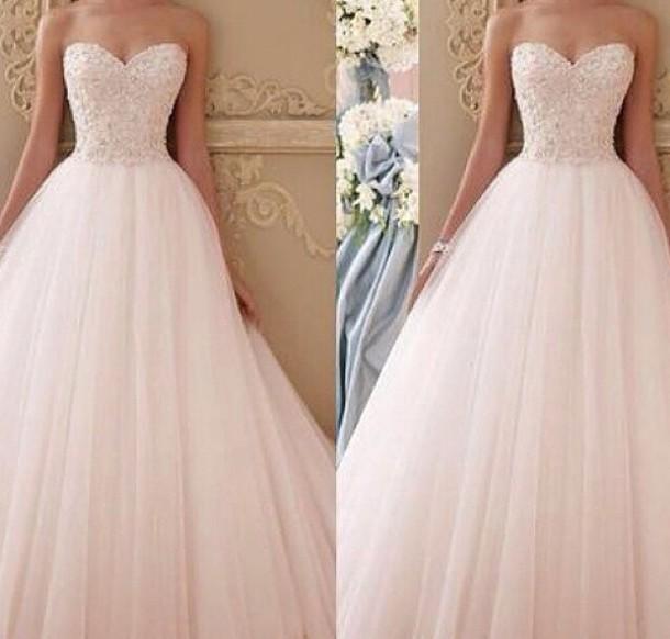 prom dress, pink dress, long prom dress, dress, white dress, prom ...