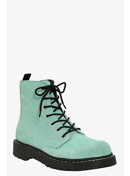 Anarchic By T.U.K. - Mint Suede (Medium Width) | Torrid