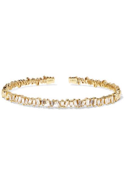 Suzanne Kalan - 18-karat Gold Diamond Cuff